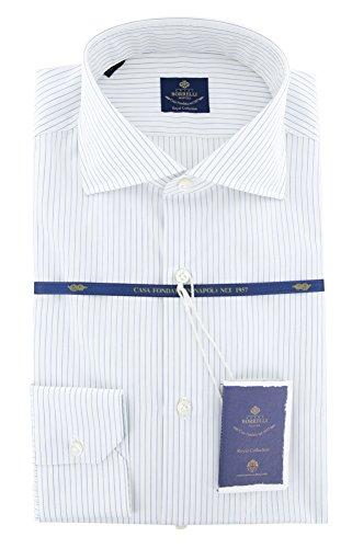 new-luigi-borrelli-blue-striped-extra-slim-shirt