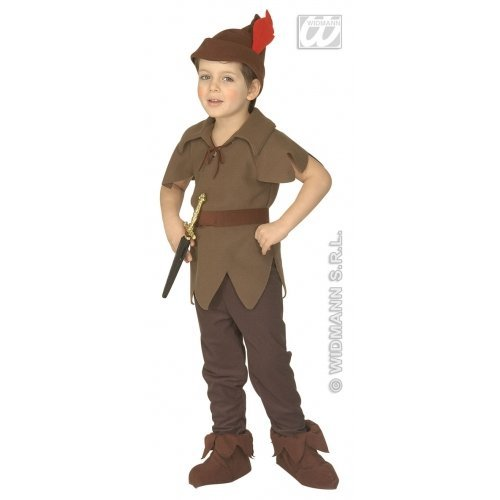 Children's Little Brown Elf Costume Outfit for Christmas Panto Nativity Fancy Dr