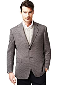 Collezione Wool Rich 2 Button Textured Jacket