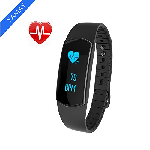 yamay fitness activity tracker mit pulsmesser bluetooth. Black Bedroom Furniture Sets. Home Design Ideas
