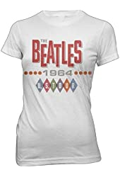 The Beatles 1964 U.S. Tour Juniors T-Shirt - White