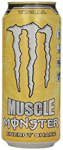 Monster Energy Muscle Energy Shake, Vanilla, 15 Ounce (Pack of 12)