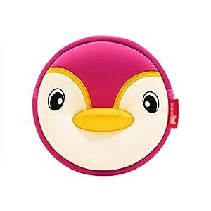 Nohoo® Kids penguin shoulder bag 3D Cute Zoo Cartoon School (s-pink)