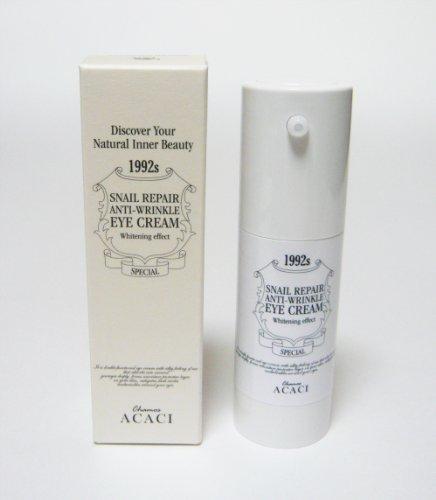 韓国スネイルコスメ Snail Repair Skin Care 皮膚再生化粧品 カタツムリエキス配合 アイクリーム Snail Repair AntiーWrinkle Eye Cream 30ml CHAMOS ACACI