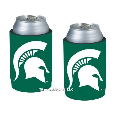 Ncaa Michigan State Neoprene Can Holders | Michigan State Spartans Can Koozies - Set Of 2 front-48962