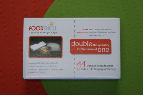 Fooshell Vacuum Storage Bags, Quarter Size (44bags) (Foodshell Vacuum Food Sealer compare prices)