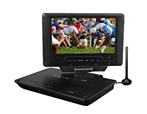 Azend Group Envizen Digital Quartet 9 ED8890A 9-Inch LCD Portable Digital Television and DVD Player with 3-In-One Card Reader, Case and Car Seat Attachment (Black)