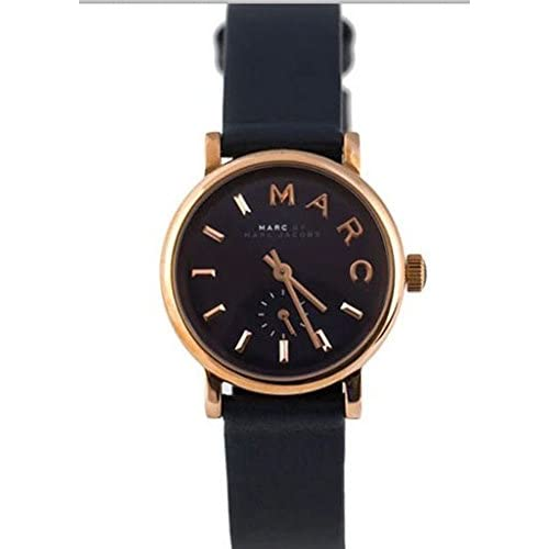 【MARC JACOBS】マークジェイコブス 腕時計 ネイビー×ローズゴールド/ネイビーレザーストラップ スモールサイズ MBM1331[並行輸入品]