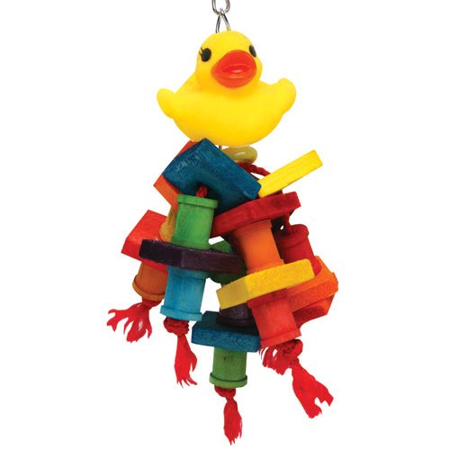 Happy Beaks Rubber Duck Monster Bird Toy