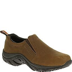 Merrell Men\'s Jungle Moc Pro Grip Nubuck Slip-Resistant Work Shoe, Brown, 9.5 M US