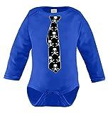 Tie Of Skull Long Sleeve Bodysuit (18 Months, ROYAL BLUE)