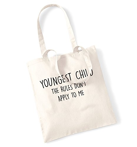 Youngest child I'm the reason we have rules tote bag