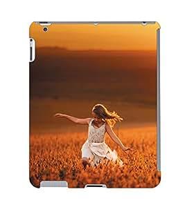 Fuson 3D Printed Beautiful Girl Designer Back Case Cover for Apple iPad 6 - D950