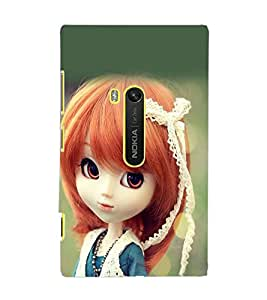 PrintDhaba Cute Doll D-1018 Back Case Cover for NOKIA LUMIA 920 (Multi-Coloured)