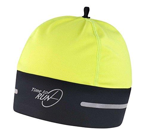 time-to-run-cappello-termici-da-running-nero-giallo