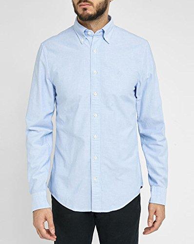Gant -  Camicia Casual  - Basic - Con bottoni  - Maniche lunghe - Uomo Blu blu