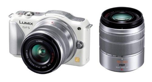 Panasonic デジタル一眼カメラ ルミックス GF5 ダブルズームレンズキット 標準ズームレンズ/望遠ズームレンズ付属  シェルホワイト DMC-GF5WA-W