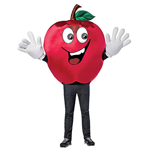 Adult Waving Apple Mascot Halloween Costume