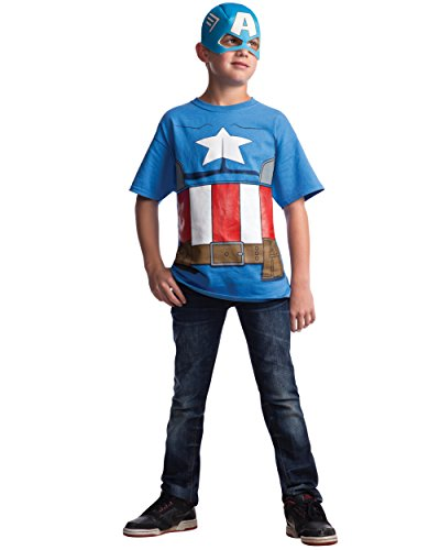Marvel Avengers Assemble Captain America Costume T-Shirt with Mask