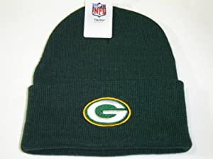 NFL Green Bay Packers Green Classic Cuffed Knit Winter Beanie Hat by NFL