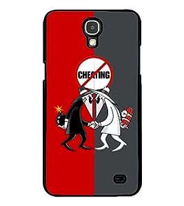PRINTVISA The Embarasing Girl Premium Metallic Insert Back Case Cover for Samsung Galaxy Mega 2 - G750F - D5849