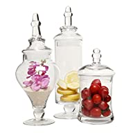 Designer Clear Glass Apothecary Jars…