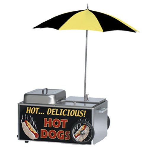 Gold Medal Hot Dog Steamer with Umbrella