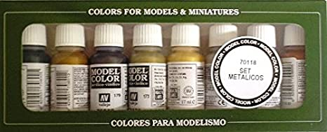Model Color Set - Metallics (x8) (VAL70118)