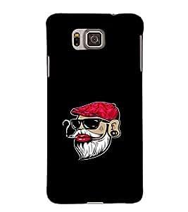 EPICCASE Beard swag Mobile Back Case Cover For Samsung Galaxy Alpha (Designer Case)