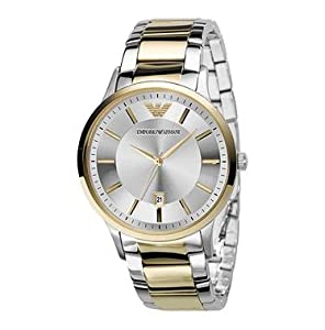 Emporio Armani Men's AR2449 Dress Silver Dial Watch