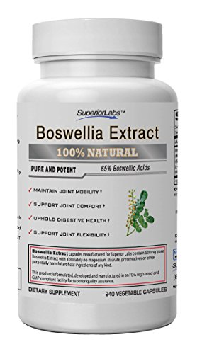 Boswellia Extract by Superior Labs - Non Synthetic, 500mg, 240 Vegetable Caps (Natural Made Flex compare prices)