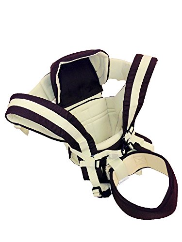 Great Features Of 4 Position Baby Carrier with Waist Belt and Hood - Sling, Front Facing, Face Out a...