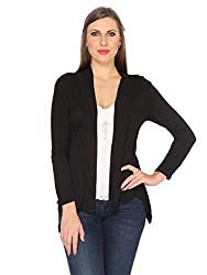 Ten on Ten Womens Black Long Shrug
