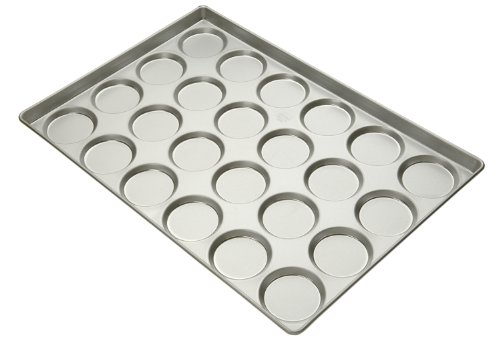 Focus Foodservice Commercial Bakeware 24 Count 4-Inch Hamburger Bun/Muffin Top Pan