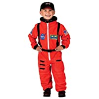 Aeromax Jr. Orange Astronaut Suit with Cap, ORANGE, 4-6 from AEROMAX