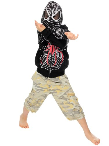 Kids Funny Spider-Man Zipper Hoodies, Clothes