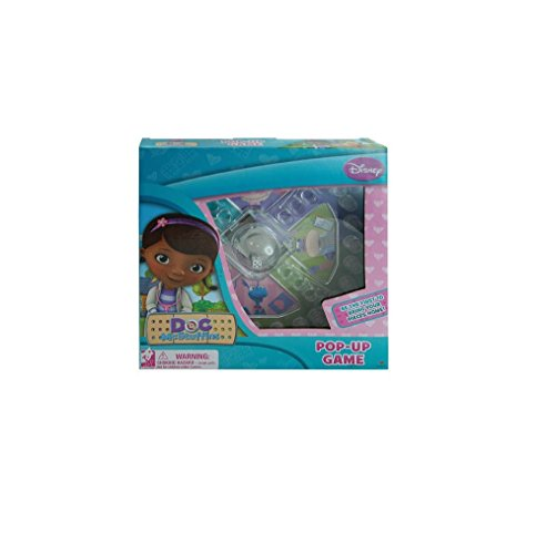 Disney Doc Mcstuffins Trouble Race-And-Chase Pop-Up Bubble Children'S Board Game front-606263