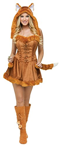 Funworld Womens Animals Sexy Foxy Lady Velvet Theme Party Halloween Costume
