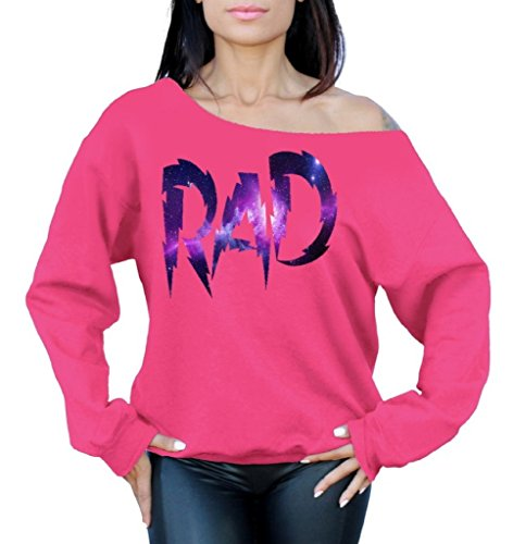 Rad Off the Shoulder Oversized Sweatshirt - 7 Colors - S to XL