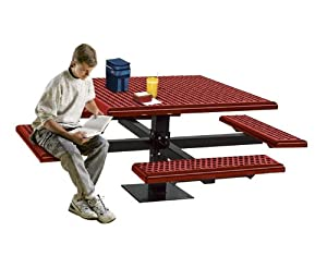 Ultra Play Outdoor Square Table With Surface Mount Leg from Ultra Play