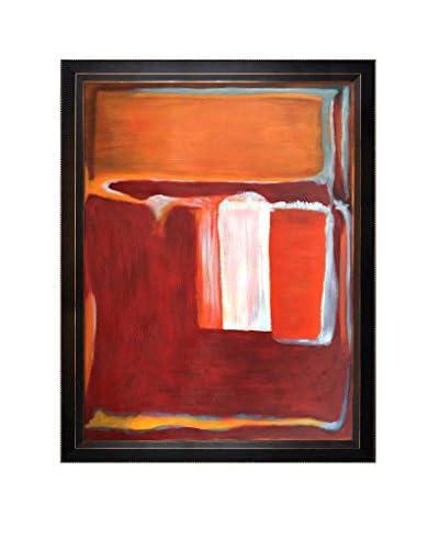 """Mark Rothko """"Yellow, Cherry, Orange, 1947"""" Framed Oil Reproduction"""