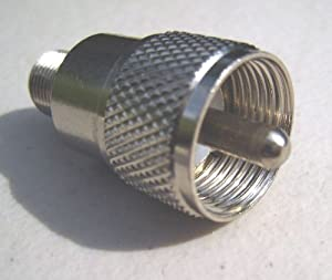 UHF/PL259 Male to F Female Coaxial Adapter