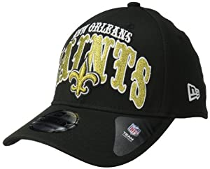 NFL New Orleans Saints Curve Classic 39Thirty Flex Fit, Medium/Large