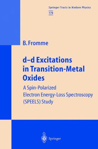 D-D Excitations In Transition-Metal Oxides: A Spin-Polarized Electron Energy-Loss Spectroscopy (Speels) Study (Springer Tracts In Modern Physics)