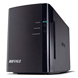 BUFFALO LinkStation Duo 2-Bay 2 TB (2 x 1 TB) RAID Network Attached Storage (NAS) -  LS-WX2.0TL/R1