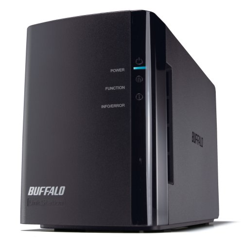 Buffalo Technology LinkStation Duo 2 TB (2 x 1 TB) Network Attached Storage LS-WX2.0TL/R1