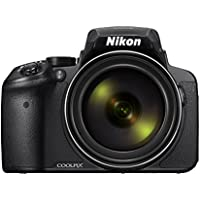 Nikon Coolpix P900 16.0MP Point and Shoot Camera (Black) with 83x Optical Zoom, 8GB Card and Camera Case
