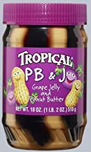 Tropical Grape Peanut Butter amp Jelly 18oz Plastic Jar Pack of 3