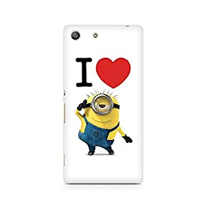 Ebby I Love Minions Premium Printed Case For Sony Xperia M5