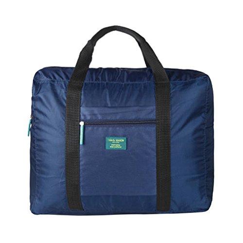 FENICAL Impermeabile borsa da viaggio grande capacità pieghevole Travel Organizer Bag (blu marino)